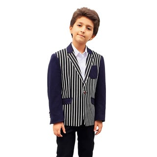 Deals on Elie Balleh Milano Italy Boys Striped Jacket/ Blazer