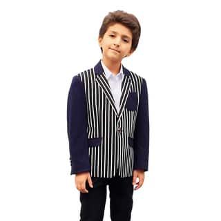 Elie Balleh Milano Italy Boys' Striped Jacket/ Blazer|https://ak1.ostkcdn.com/images/products/10695322/P17757088.jpg?impolicy=medium