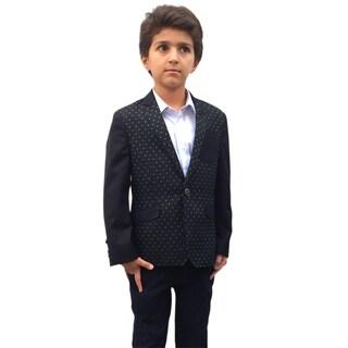 Elie Balleh Boy's Milano Italy 2015 Style Dot Jacket/Blazer