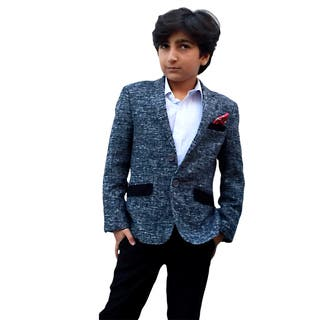 Elie Balleh Boy's Milano Italy 2015 Style Grey Jacket/ Blazer|https://ak1.ostkcdn.com/images/products/10695324/P17757090.jpg?impolicy=medium