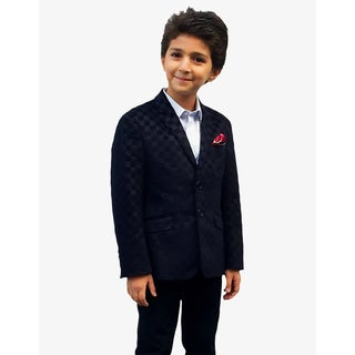 Elie Balleh Milano Italy Boys' Checkered Jacket/ Blazer