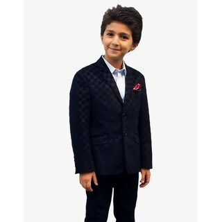 Elie Balleh Milano Italy Boys' Checkered Jacket/ Blazer