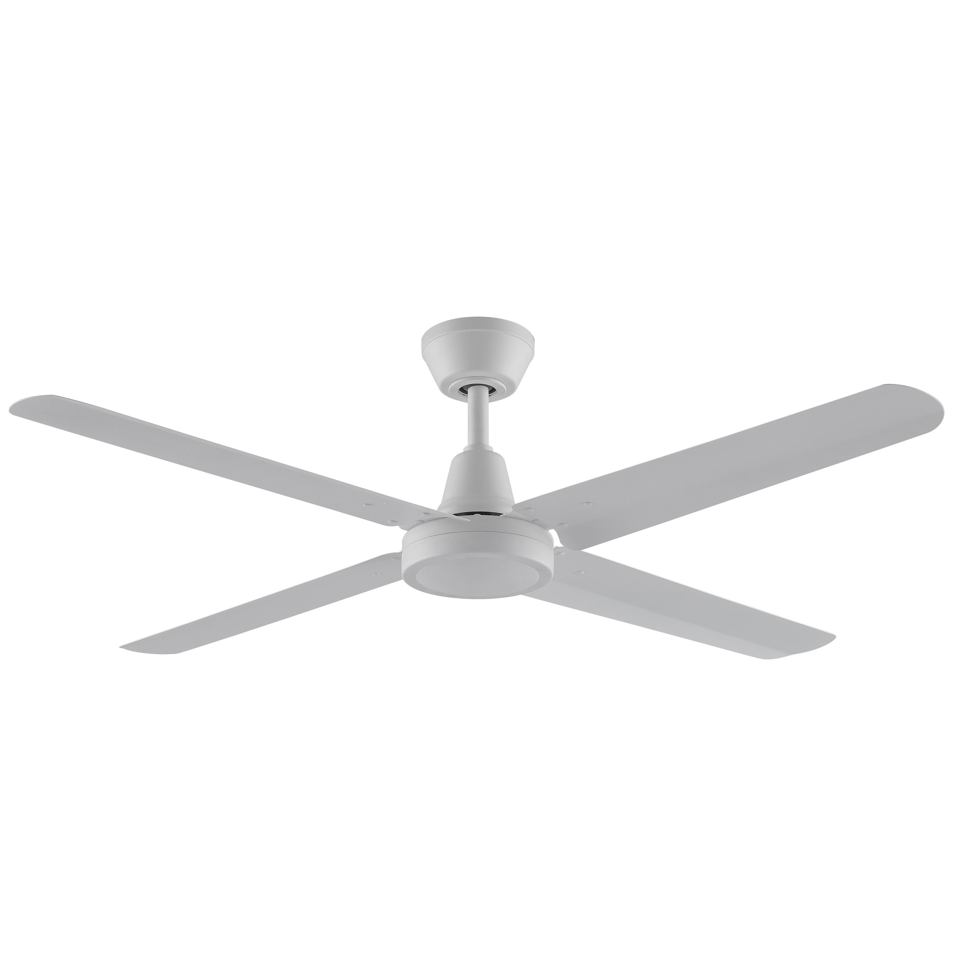 4 Blade Matte White Ceiling Fan