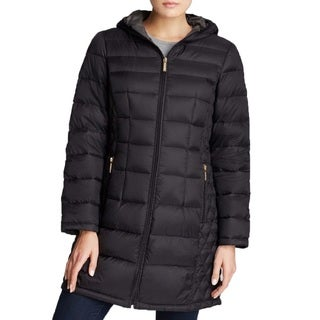 Michael Michael Kors Women's Down Quilted Black Puffer Packable Coat