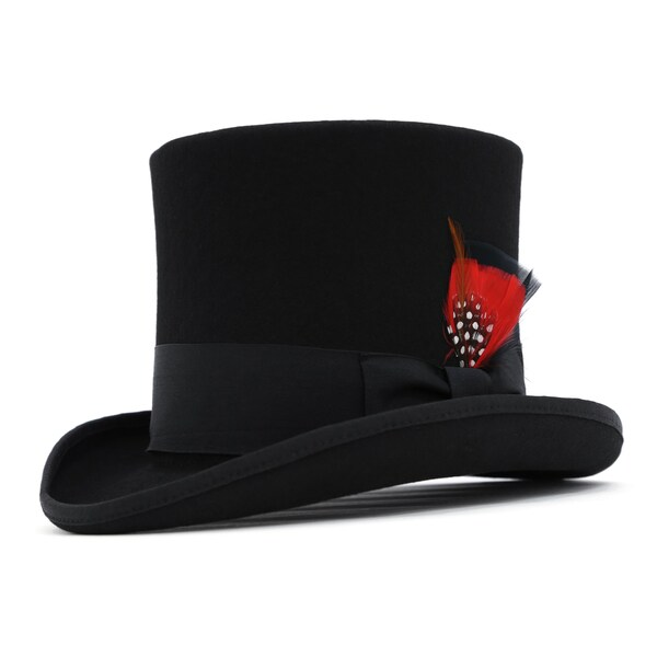 7572094dfda68 Shop Ferrecci Men s Premium Wool Classic Top Hats - Free Shipping ...