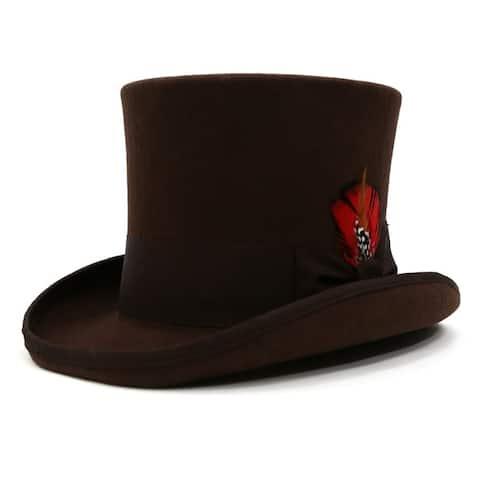 Ferrecci Men's Premium Wool Classic Top Hats