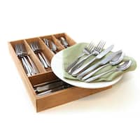 Oneida Mooncrest 25-Pc Set with Bamboo Storage Caddy (Service for 4)
