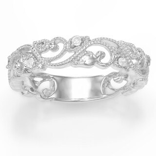 Sterling Silver 0.11 Cttw Diamond Ring