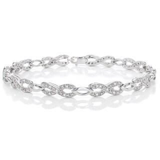 Sterling Silver 1/4 Cttw Fashion Diamond Bracelet (H-I, I1-I2)
