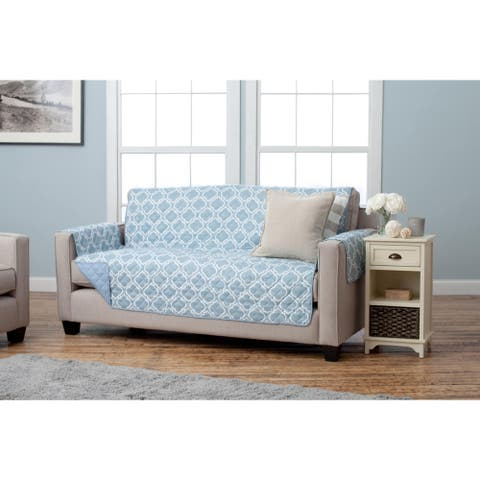 Home Fashion Designs Adalyn Collection Printed Reversible Sofa Protector