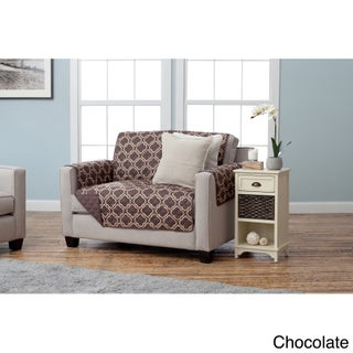 Home Fashion Designs Adalyn Collection Printed Reversible Love Seat Protector (2 options available)