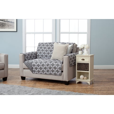 Home Fashion Designs Adalyn Collection Printed Reversible Love Seat Protector