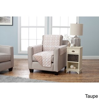 Home Fashion Designs Adalyn Collection Printed Reversible Chair Protector (Option: Taupe)