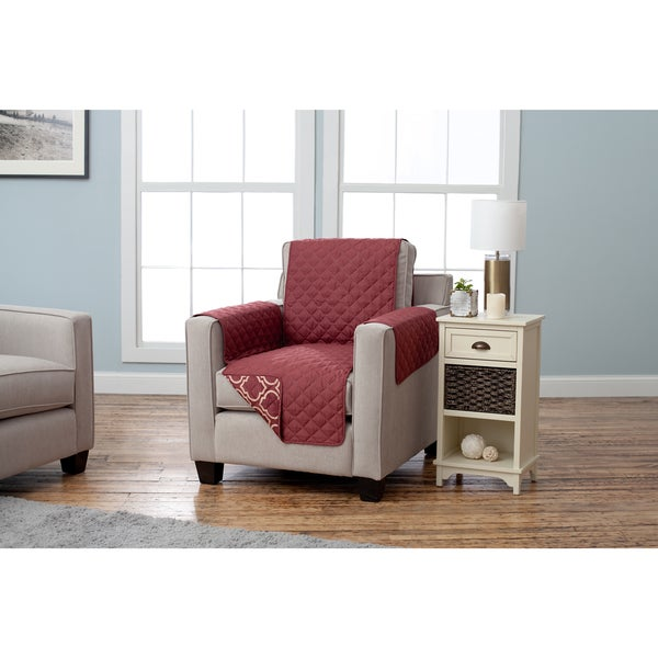 Home Fashion Designs Adalyn Collection Printed Reversible Chair Protector. Opens flyout.
