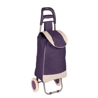 rolling fabric cart, plum