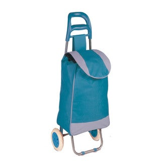 rolling fabric cart, blue