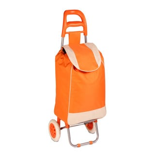rolling fabric cart orange