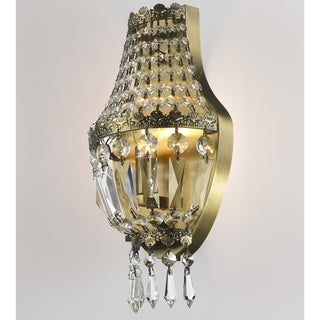 Metro Candelabra 3-light Antique Bronze Finish with Clear Crystal Wall Sconce