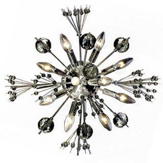 Starburst 10 light Chrome Finish Crystal Sputnik Modern Large Wall Sconce 20""