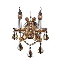 Maria Theresa Imperial 2-light Amber Crystal Candle 10-inch Wide Medium Wall Sconce