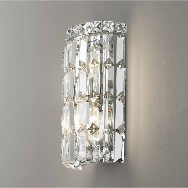 A Modern Art Deco Home Visualized In Two Styles: Shop Glam Art Deco Style 2-light Chrome Finish And Clear