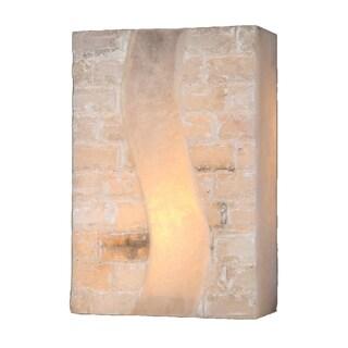 Metro Candelabra 2 Light Brass Finish Wall Sconce