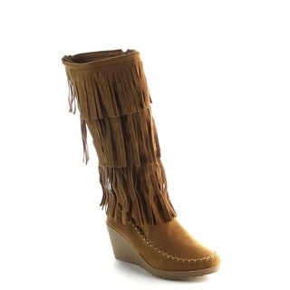 FOREVER FEW18 Women's Fring Wedge Boots