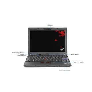 Lenovo ThinkPad X201 Intel Core i5-520M 2.4GHz CPU 6GB RAM 500GB HDD Windows 10 Home 12.1-inch Lapto