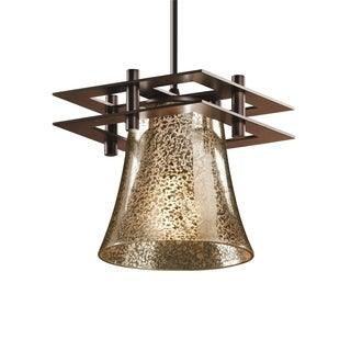 Justice Design Group Fusion Metropolis Small 2 Flat Bar Pendant Round Flared