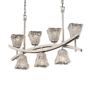 Justice Design Group Veneto Luce Archway Up & Downlight Chandelier Square Flared