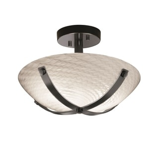 Justice Design Group Fusion Dakota 14 inch Semi Flush Round Bowl