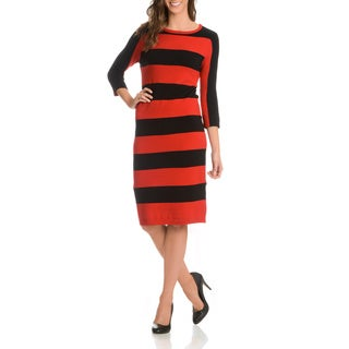 Joan Vass Women's Wide Stripe Dress