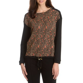 Joan Vass Women's Basketweave Top