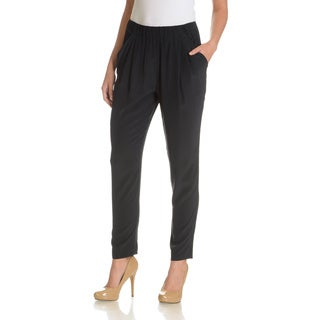 Joan Vass Women's Drape Pockets Silk Pant