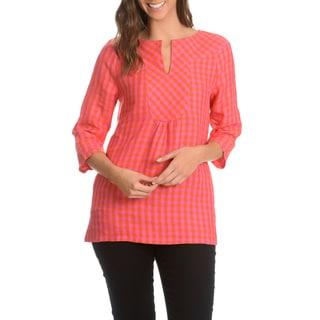 Episode Women's Tartan Plaid Linen Tunic