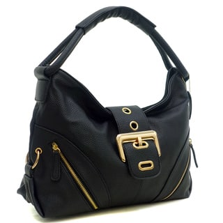 Dasein Buffalo Faux Leather Classic Hobo with Zippered Pockets|https://ak1.ostkcdn.com/images/products/10695970/P17757645.jpg?impolicy=medium