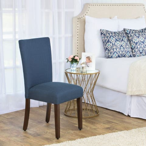 HomePop Parson Chair - Blue Everly Oceanside - Single