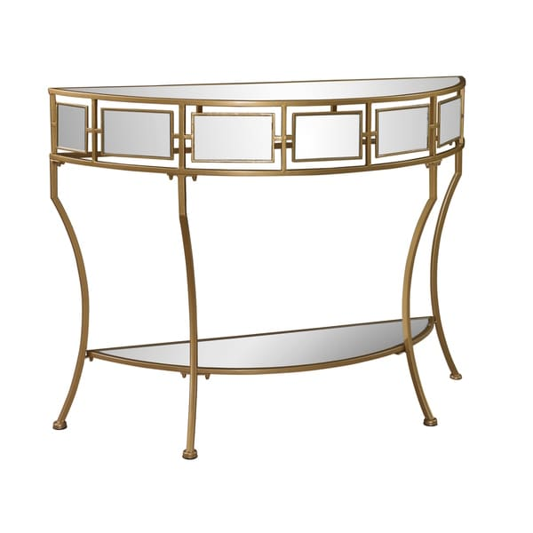 powell dionysus mirror and gold console table
