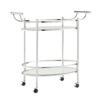 Powell Minerva Chrome Service Cart