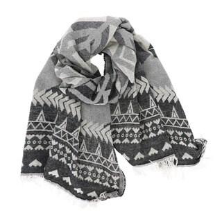 Geometric Tribal Blanket Scarf