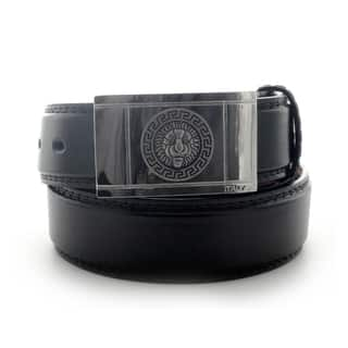 Faddism Men's Lion Head Smooth Plate Buckle Leather Belt|https://ak1.ostkcdn.com/images/products/10696034/P17757655.jpg?impolicy=medium