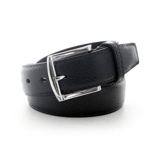 Faddism Men's Pebble Grain Leather Belt