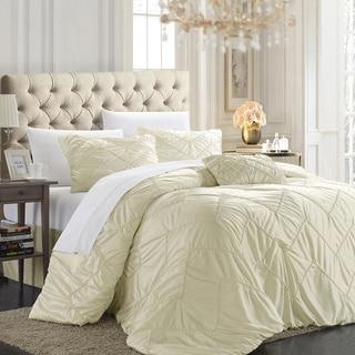 Chic Home Belvia Beige 5-piece Comforter Set