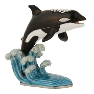 Orca On the Waves Trinket Box