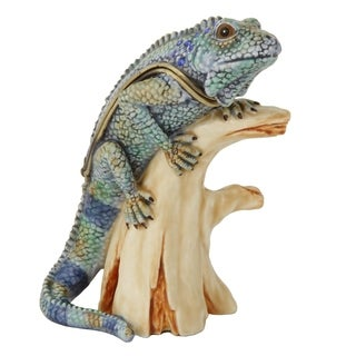 Lizard on a Branch Trinket Box