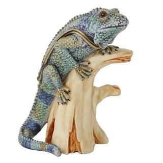 Lizard on a Branch Trinket Box