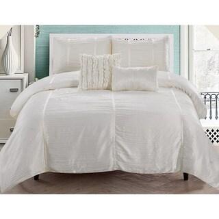 Kingsley Crushed Sateen 5-piece Comforter Set