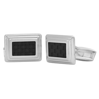 Stainless Steel and Carbon Fiber Cufflinks