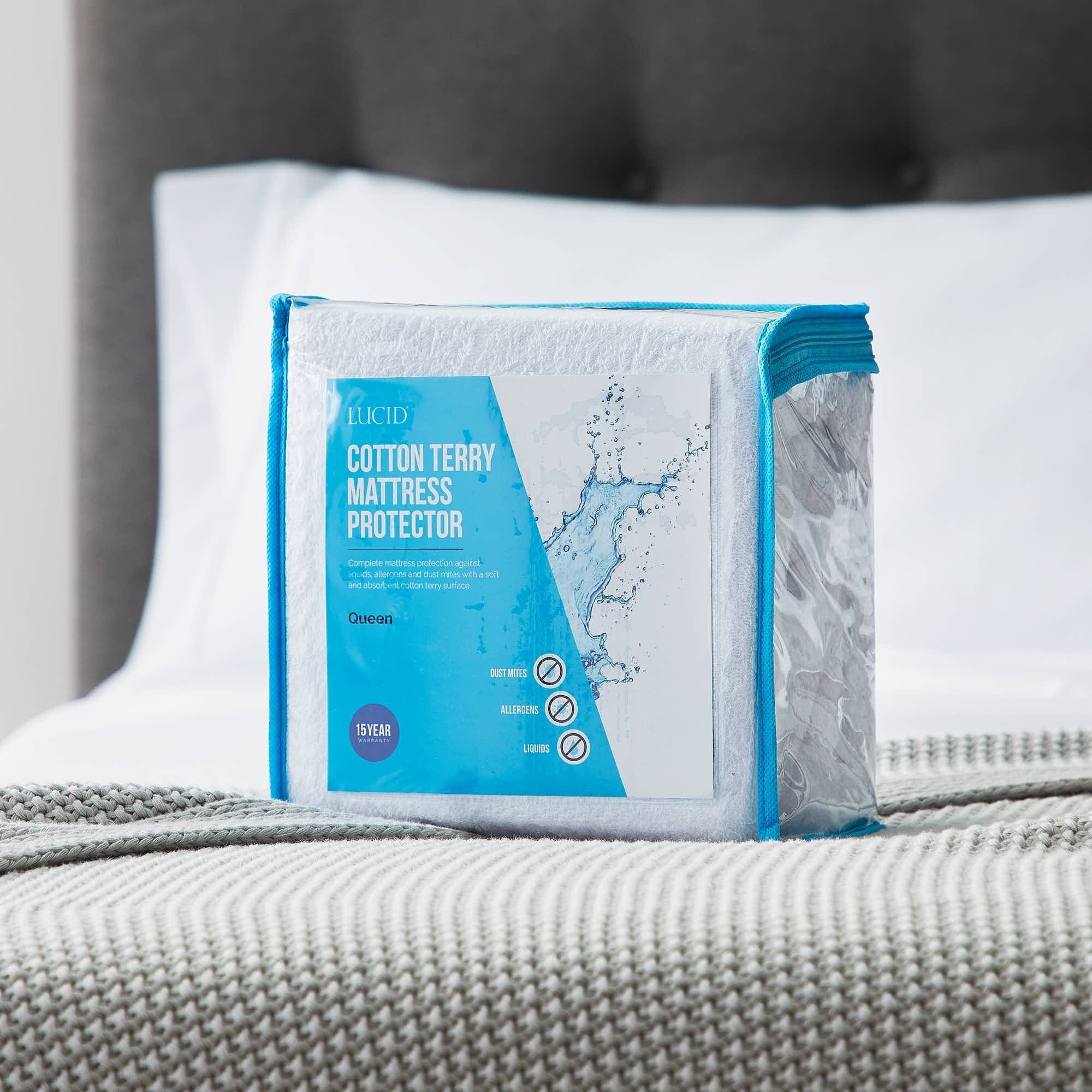 Premium Cotton Terry Matress Protector Waterproof Hypoallergenic Mattress Cover