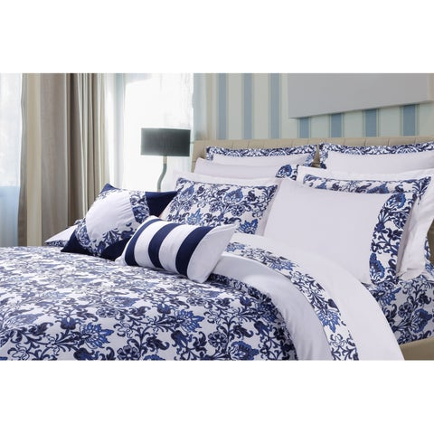Catalina 5-piece Printed Cotton Oversize Duvet Cover Set
